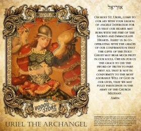 7-Day Candle Label - Uriel the Archangel