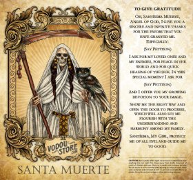 7-Day Candle Label - Santa Muerte (To give gratitude)
