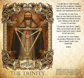 7-Day Candle Label - The Trinity