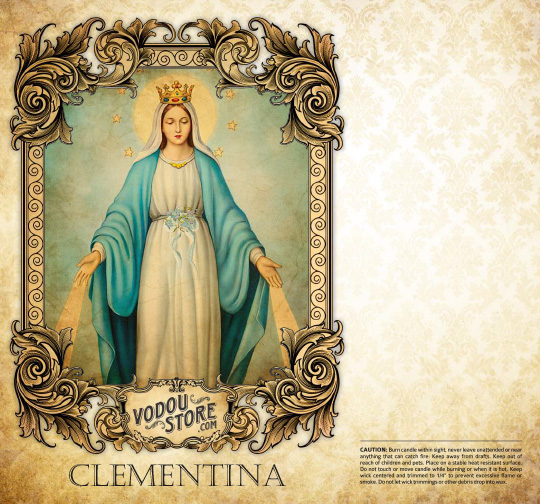 7-Day Candle Label - Clementina