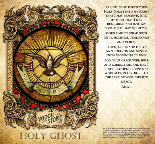 7-Day Candle Label - Holy Ghost
