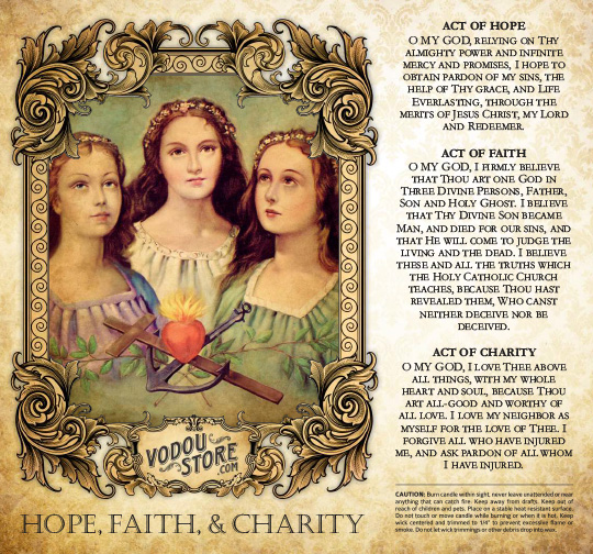 7-Day Candle Label - Hope, Faith & Charity