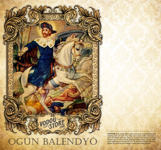 7-Day Candle Label - Ogun Balendyo