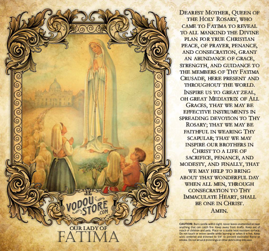 7-Day Candle Label - O.L. of Fatima