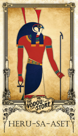 Prayer Card - Heru-sa-Aset (Horus)