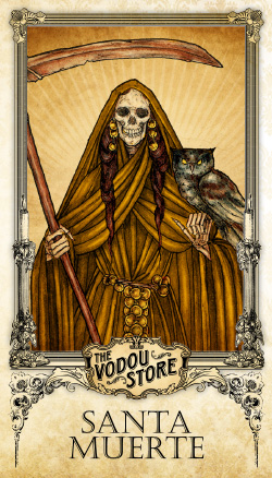 Prayer Card - Santa Muerte (Ambar)