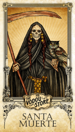 Prayer Card - Santa Muerte (Negra)