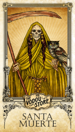 Prayer Card - Santa Muerte (Dorada)