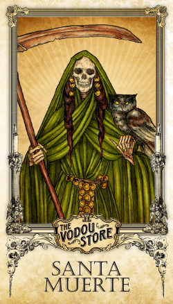 Prayer Card - Santa Muerte (Verde)