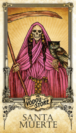 Prayer Card - Santa Muerte (Rosa)