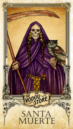 Prayer Card - Santa Muerte (Violeta)
