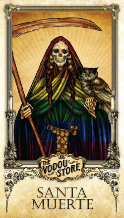 Prayer Card - Santa Muerte (Arcoiris)