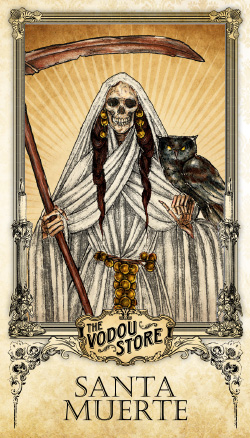 Prayer Card - Santa Muerte (Blanca)