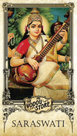 Prayer Card - Saraswati