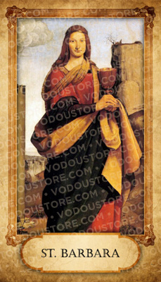 Prayer Card - St. Barbara