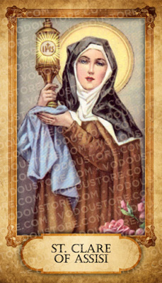 Prayer Card - St. Clare of Assisi