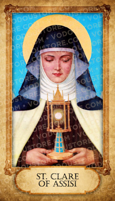 Prayer Card - St. Clare of Assisi (B)
