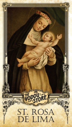Prayer Card - St. Rosa of Lima