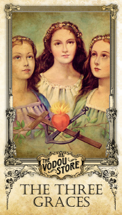 Prayer Card - The Three Graces (Hope, Faith & Charity)