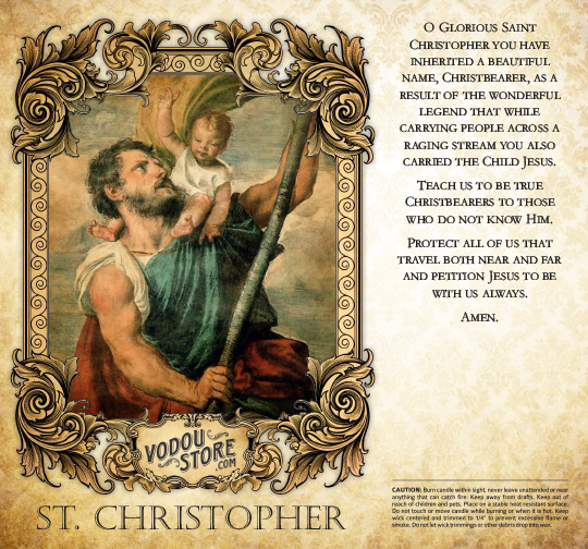 7-Day Candle Label - St. Christopher
