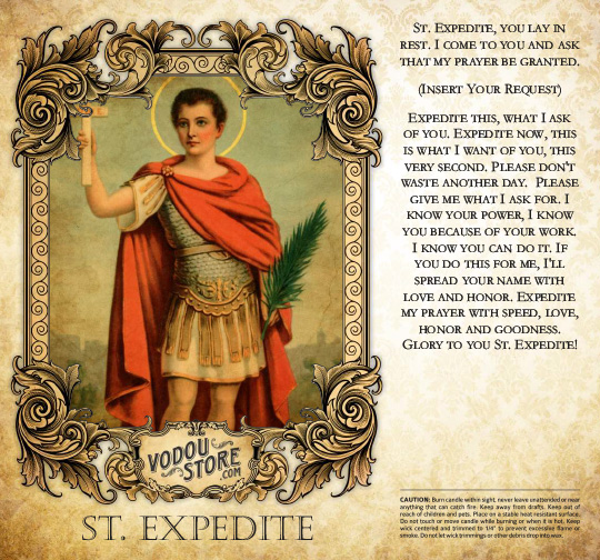 7-Day Candle Label - St. Expedite