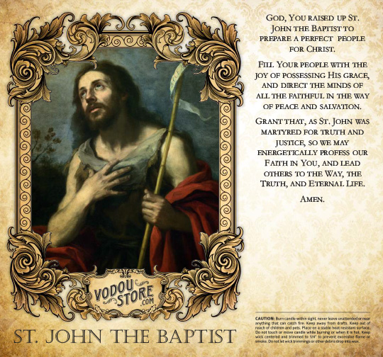 7-Day Candle Label - St. John the Baptist